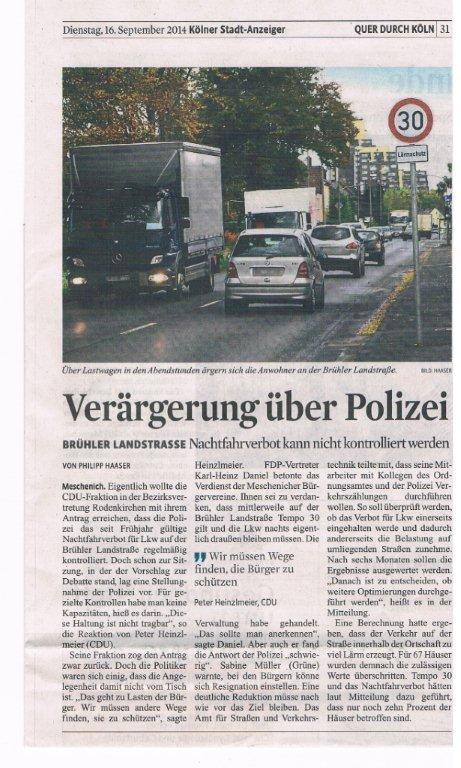 16.09.2014 Polizei ! Dein Freund und Helfer .......